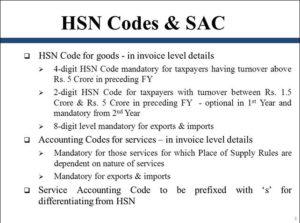 HSN Codes