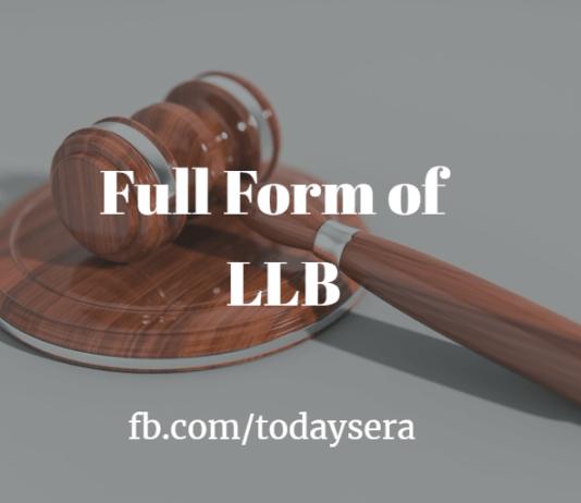 Full Form of LLB