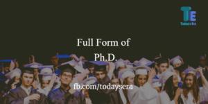 Full Form of Ph.D. in english & hindi