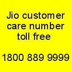 Jio toll free customer care number 2018