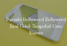 Punjabi Hollywood Bollywood Real Celeb Snapchat User Names in 2018