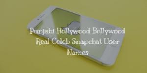 Punjabi Hollywood Bollywood Real Celeb Snapchat User Names in 2018