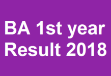 BA 1st year Result 2018