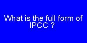 IPCCfull form