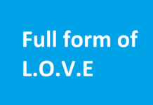 full form of love
