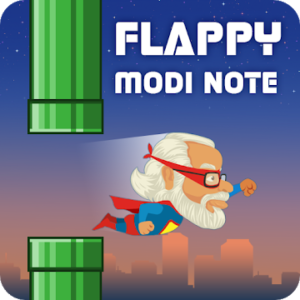 Super flappy Modi note game